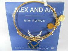 ALEX AND ANI US AIR FORCE Charm Bangle Bracelet Shiny Gold NWT MILITARY BRACELET