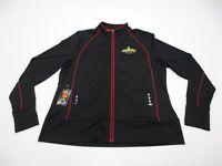 new LESLIE JORDAN Women's Size 2XL Statesman Full Zip Black Track Jacket