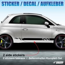 934 Kit déco autocollant SPORT FIAT 500 sticker decal aufkleber adesivo abarth
