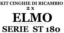 KIT CINGHIE DI RICAMBIO 2 x PROIETTORE SUPER 8 mm ELMO ST 180 EM-M-MO ★