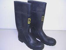 """Mens Servus Iron Duke 14"""" Black Waterproof Steel Toe Work Rubber Boots Size 11"""