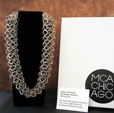 """JOANNE THOMPSON Oxidized Sterling Silver Multi Loop Necklace 20"""" NEW IN BOX"""