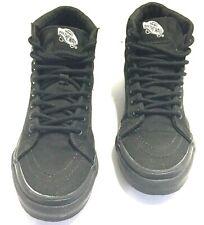 Vans Off The Wall Mens 4  Womens 5.5 Med Black Canvas Hi Top Skateboarding Shoes