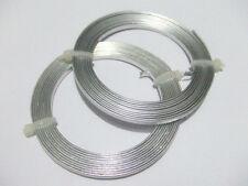 2mt /rotolo  di filo alluminio piatto 3mm colore argento bijoux