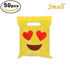 50pc Mini Emoji Goodie Candy Bags Kids Birthday Party Treats Favors Supplies