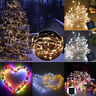 Solar Powered 10M 100LED Copper Wire Fairy String Lights Garden Party Xmas Decor