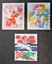 JAPAN USED 1999 GREETINGS 3 VALUE VF COMPLETE SET SC# 2704 - 2706