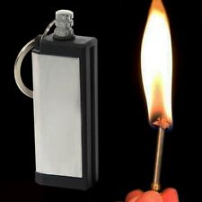 Camping Hiking Home Survival Emergency Fire Starter Flint Match Lighter Key Ring