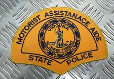 US Virginia State Police Motorists Assistance Aide  Large Patch / Badge PB01