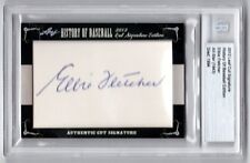 Elbie Fletcher 2012 Leaf Cut Signature Edition History of Baseball AUTOGRAPH