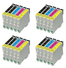 PACK x20 tinta COMPATIBLES NON OEM para Epson RX420 RX400 R240 R245 TO551 -54