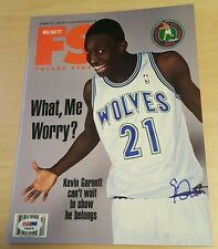 Kevin Garnett Signed Rookie Year Beckett Magazine 1995 autographed PSA/DNA COA