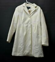 Liz Claiborne Outerwear Women's Small Polyester Pea Coat Jacket Ivory New