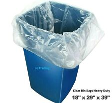 More details for 10 x clear bin liners bags refuse sacks heavy duty rubbish waste bags 160g