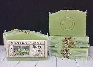 BULK Handmade ~ Happy Hemp ~ Soap Bars 4 PACK using Tasmanian Hemp Oil
