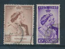 MALAYA STATES 1948 ROYAL SILVER WEDDING SETS FINE USED SINGAPORE JOHORE etc