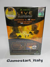 XBOX LIVE STARTER KIT + CUFFIE (XBOX) NUOVO NEW - PAL VERSION