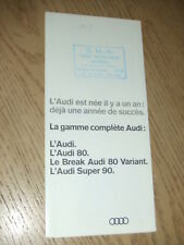 RARE 1967 FRENCH Audi 80 Variant Super 90 Auto Sales Brochure Nice France Union