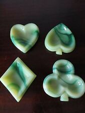 Playing Card Suit Shaped Nut Candy Dish Set