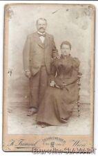 ANTIQUE Photograph CdV Austria couple man woman Vienna historic fashion FRIMMEL