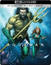 Aquaman Steelbook (4K Uhd/Blu-ray/Digital) - Mint/Sealed, First Class Shipping