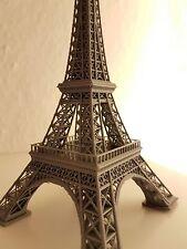 Paris Eiffel Tower model, Grey, Gray, 3D print, Souvenir, France 15 cm high