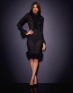 Agent provocateur RARE  black silk  MORRIGAN dress size 2
