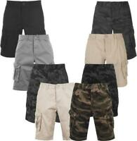 Mens Firetrap Cargo Combat Army Work Camo Shorts Cotton Chino Half Pant S-4XL