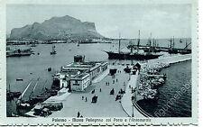 Primi '900 Palermo Monte Pellegrino Porto e l'Antemurale carrozze FP B/N ANIM