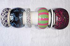 Chic & Retrò Vintage Resina Lucite & Bracciale in colori misti Collezione 6 WOW