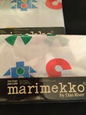 Vintage Marimekko New Fitted And Flat Sheet Twin Numbers Counting Fabric