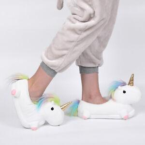 Womans Slippers Novelty 3D Animal Slippers Ladies Unicorn Slippers SALE UK