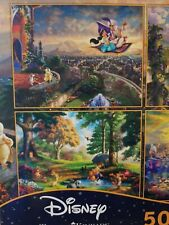 Thomas Kinkade 4-in-1 Multi Pack Disney Puzzles 500 Piece Aladdin Pooh Beauty