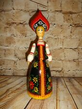 Vintage Antique Wood Wooden Scandinavian Doll Girl Russia Russian Lady