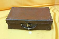 BROWN CHILDS LEATHER SUITCASE ##WBR231BW