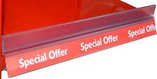 "10 x Shelf Edge/Ticket Rail Inserts ""Special Offer"" 1240mm Long"