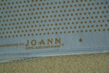 "By-the-Half-Yard, 42"" Wide, Gold Dots on Blue Cotton, JoAnn, C2107"