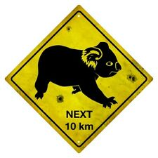 KOALA WARNING SIGN  KOALA AUSTRALIAN ROAD SIGN  KOALA SOUNENIER SIGN
