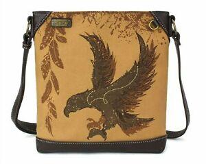 Chala Eagle Crossbody Messenger Bag Safari Mid-Size Canvas Shoulder Bag