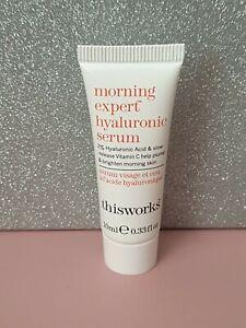 This Works Morning Expert Hyaluronic Serum - 10ml - SEALED
