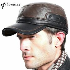 Mens Casual Hat Business Autumn Style Faux Leather Fashion Snapback