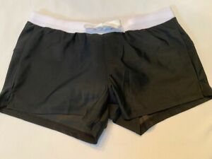 "Men's Short Shorts Swim Trunk - Size ""M"" - Black & White"