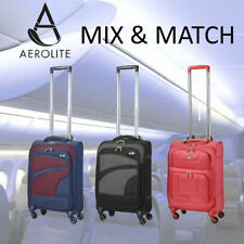 Synthetic Up to 40L Spinner (4) Wheels Suitcases
