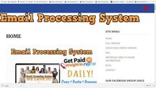 EMAIL PROCESSING WEBSITE FOR SALE, EARN $25 PAYMENTS ALL DAY LONG, 24/7!!