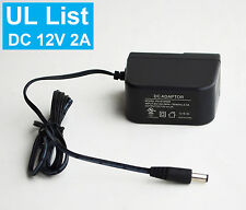 UL list    DC12V 2A  Power Supply Adapter for CCTV Security Camera
