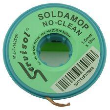 No Clean Solder Mop 1.5mm Desolder  Braid 10mtrs