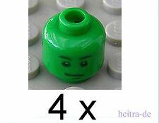 LEGO Toy Story - 4 x Kopf grün für Soldaten / Green Head / 3626bpb0403 NEUWARE