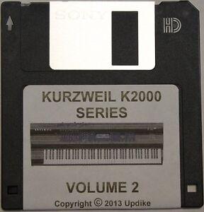 "Kurzweil K2000/K2500/K2600 Series Synthesizer "" Volume 2"" Custom sound programs"