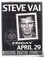 Steve Vai 2005 San Diego Concert Tour Poster - Progressive Guitar Rock Music