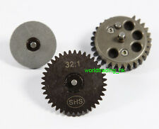 SHS (32:1) Gear Set For AEG Airsoft Gear Box V2/3 Marui G&P King Arms CA VFC US